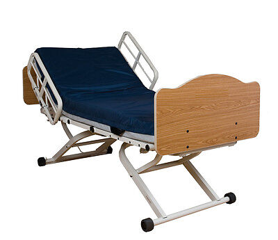 Hospital Bed Joerns Full Electric Hi-Low Bed / New Mattress / Bed Table(Chicago)