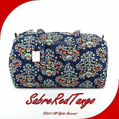 Nwt Vera Bradley Quilted Small Duffel Gym Travelling Bag Chandelier Floral