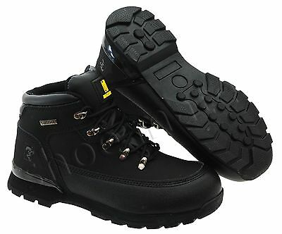 PPE Mens Black Lightweight Steel Toe Cap Safety Work Ankle Boots Shoes Trainers