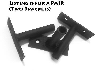 PAIR: Hand welded steel hidden bracket for floating shelves ~30# load pair