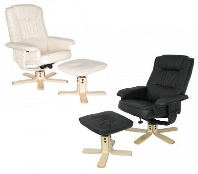 FineBuy TV armchair RELAX TV design lounge chair respect leatherette rotatable