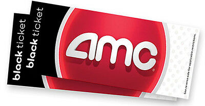 One (1) AMC Black Class Movie Theater Ticket Voucher