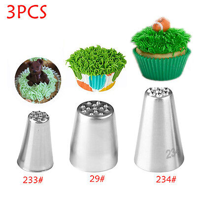 1/3 PCS Cupcake Grass Fury Piping Pastry Icing Nozzles Cake Decorating Tip