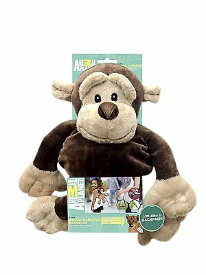 Animal Planet 2 in 1 Monkey Toddler Safety Harness Backpack Childrens Walking