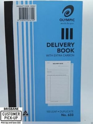 10 x Olympic #633 Delivery Book Duplicate 200x125mm 100Lf 140867 *#