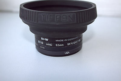 Vintage 52mm lens filter kit 4x B+W HOYA Rokinon 1A Japan Vivitar + Tiffen shade
