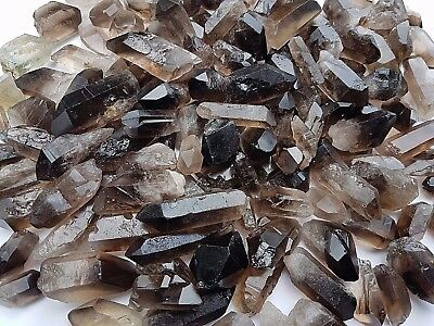 Beautiful Smoky Quartz Crystal Natural Points from Brazil 25g (1-3x) 20-60mm