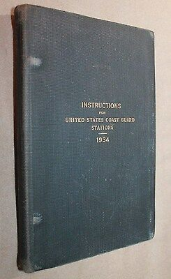 1934 Instructions For United States Coast Guard Stations First