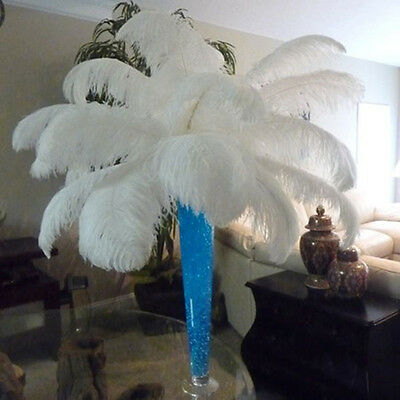High Quality White ostrich feathers 10-100pcs 6-28 inch/15-70cm hot selling