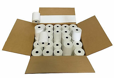 "3-1/8"" x 230' (100 Rolls) Thermal Paper 3"" diameter Cash Register Rolls BPA Free"