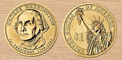 2007 P & D George Washington Presidential Dollars 2-Coin Set
