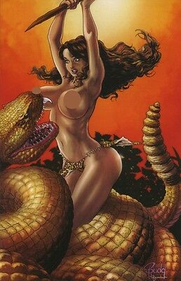 Budd Root's Cavewoman Castaway #1 Virgin Variant Cover E By Budd Root Vhtf