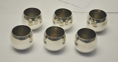 Vintage Tiffany & Co. Makers Sterling Silver Sake Nesting Shot 6 Cup Set