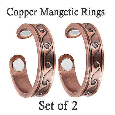 Copper Magnetic Ring BUY 1 GET 1 FREE Powerful Relief 4 Arthritis in Fingers -RW