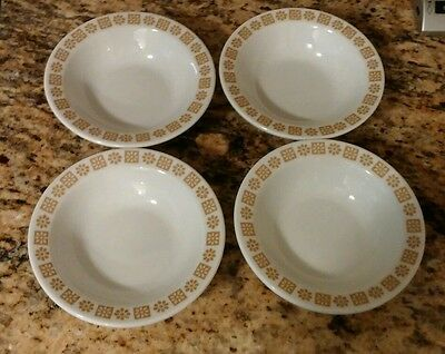 Vintage Set of 4 Shenango China Gold Rim Bowl By Interpace