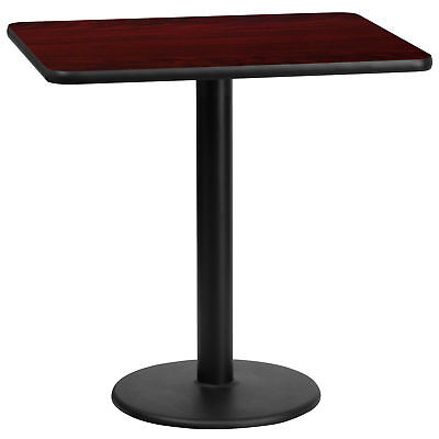 Flash Furniture 24'' x 30'' Rectangular Mahogany Laminate Table