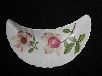Vintage Mitterteich Bavaria Germany Bone  Dish 031 Floral Nice! Free Shipping!