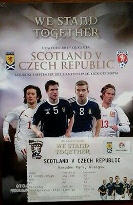 Scotland V Czech Republic 3/9/2011 Euro Championships + Ticket