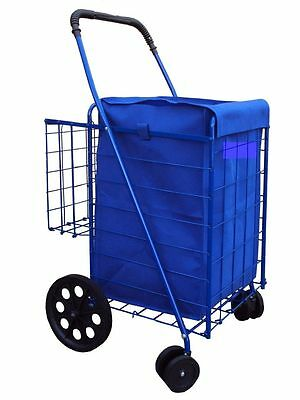 grocery folding shopping cart (LINER)  jumbo size  CART NOT INCLUDED color blue