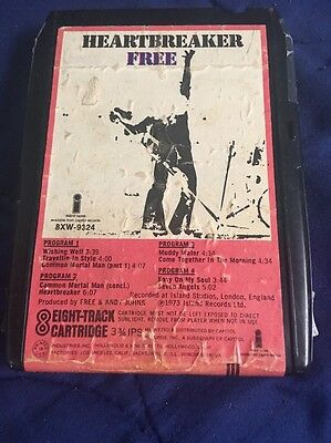Free Heartbreaker Rare Final Album 8-Track Tape New Pad Tested Sounds Great