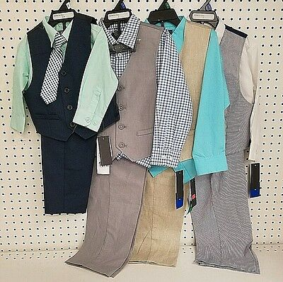 Kenneth Cole Reaction Boy's 4 Piece Vest & Dress Pants Set FORMAL Variety *NWT*