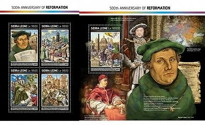 Z08 SRL17215ab SIERRA LEONE 2017 500 Years Reformation Martin Luther MNH Post