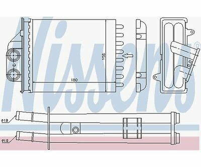 Nissens 71453 Heat Exchanger, Interior Heating