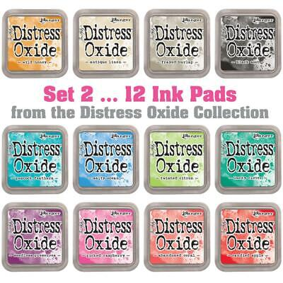 Tim Holtz Distress Oxide Ink Pads - Set 2 - 12 Colours - FREE Postage