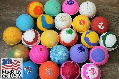Large Bath Bombs Pack of 10, Gift Set, Gift for Her, 4.5 oz. tennis ball size