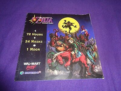 RARE The Legend of Zelda Majora's Mask 3D UNUSED Cartridge Label Nintendo 64 N64