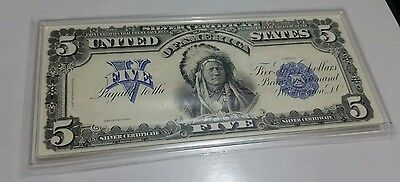 1899 Silver Certificate $5 Indian Chief Proof from the Coin & Currency set book.