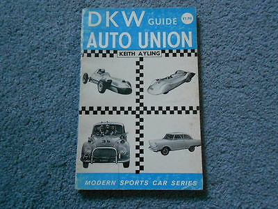 1961 Dkw Auto Union Guide Book By Ayling Modern Sports Car Series History Info