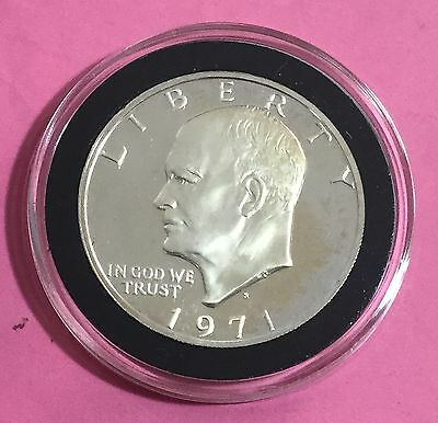 """1974S $1 US SILVER Proof """"Eisenhower"""" """"IKE"""" Dollar! Old US Coins!"""