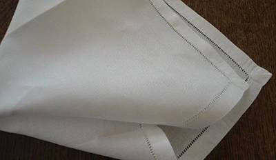 Set of 6 Vintage Irish Linen Luncheon Napkins Hemstitch