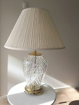 Kilkenny Waterford Crystal Table Lamp 29 inch