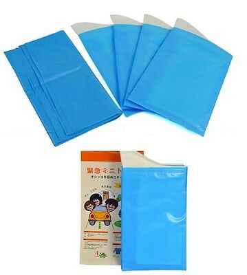 4x Disposable Outdoor Car Travel Emergency Child Adult Unisex Toilet Urine Bags