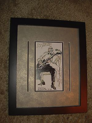 Impressive Framed B. B. King Image in Las Vegas New Year's Eve by Leroy Neiman