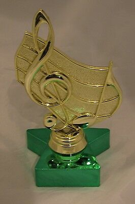 Music Notes Figurine Trophy 150mm Engraved FREE