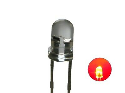 S124 - 20 Piece Flickering LEDs 3mm Red Clear Flickering Flickering Light