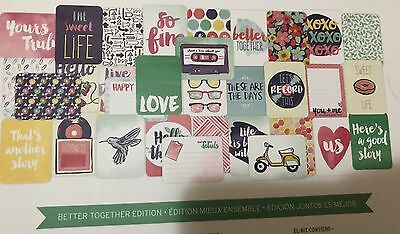 Project Life 'Better Together' Partial Cards Pack 3x4 4x6 Journal Bundle