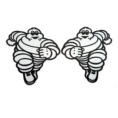 Michelin running man sponsor stickers motorcycle decals graphics x 2 small