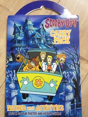 Scooby Doo Fun Activity Carry Pack and Giant Scooby Poster NEW