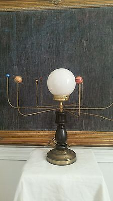 Antiqued Orrey Lamp by South Carolina artist Will S. Anderson