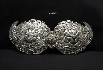 Antique Fine Huge Silver Belt Buckles - 19th century - Balkan Region