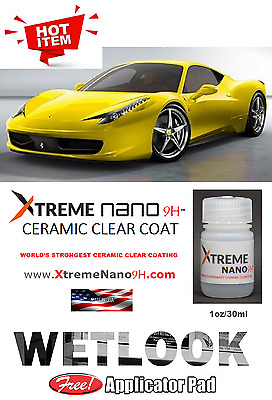 """NANO 9H AUTO CLEAR COATING CERAMIC - PRO   """"WET LOOK""""  -  1oz/30ml  MADE IN USA"""