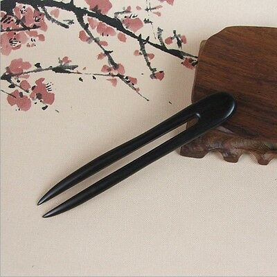 Pins Handmade Stick Carved Ebony Hair Pin Vintage Wooden