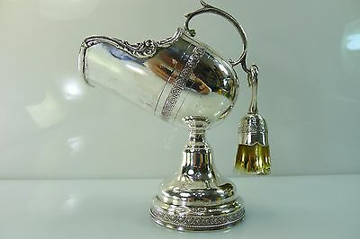 Rare Antique Solid Silver 900 Decorated Sugar Scuttle & Scoop(Not Silver Plated)