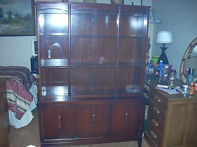 Vintage China Cabinet Wood