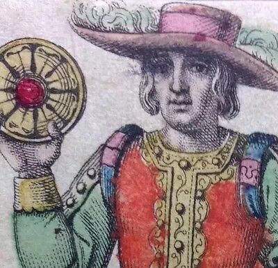 1835 Knave of Coins • Pentacles Minor Arcana Tarot Playing Cards Single +COA