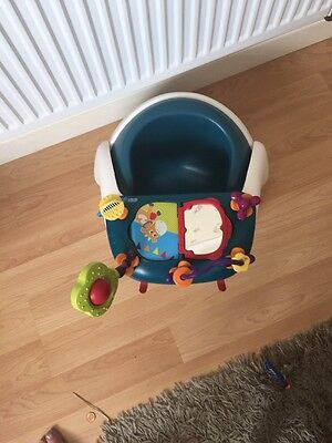 Mamas And Papas Snug Seat  DarkGreen Colour With Activity Tray